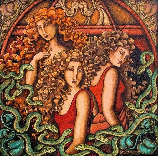 Religion - créatures mythiques - Les Gorgones