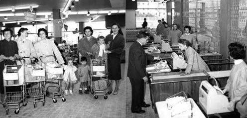 Années 50 - Le début des supermarchés -