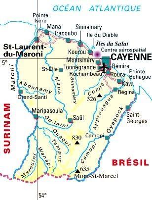 Outremer - Département(histoire) - La guyanne -973-
