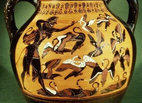 Mythologie Greco-romaine-Hercule-Travaux-6-Les oiseaux...-