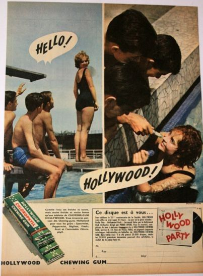 Pub et images - Hollywood chewing-gum -