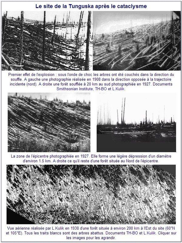Mystères - Enigmes - explosion de Toungouska en Sibérie
