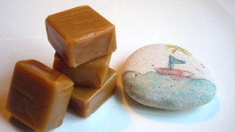 Bonbons et gourmandises -Caramels à la fleur de sel de... -