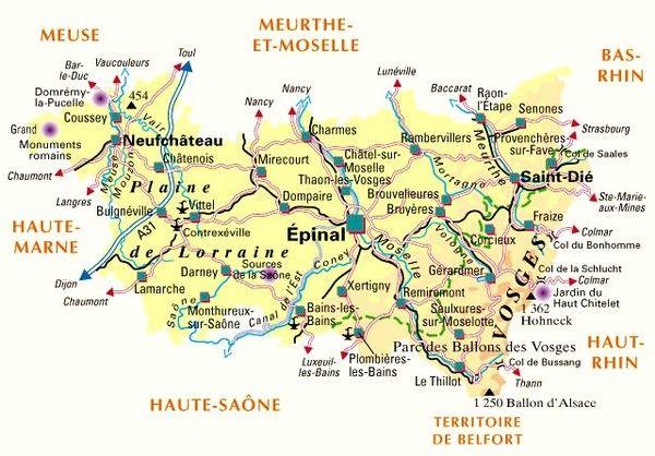 Les départements-(histoire)- Vosges - 88 -