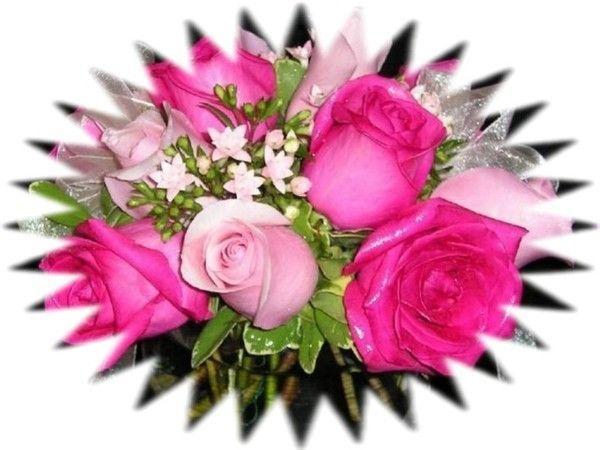 Un beau bouquet de roses chez Koukla...