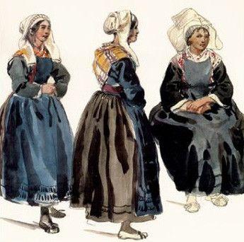 Costumes traditionnels et folkloriques - Costume Breton -