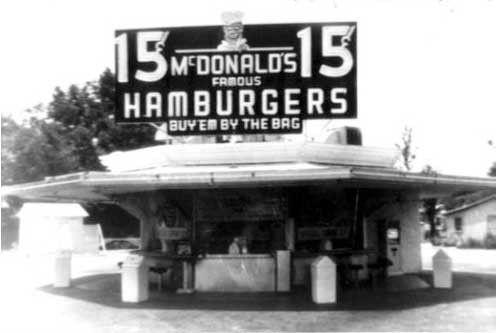 Années 50 - Le hamburger des frères MacDonald -