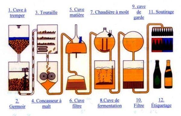 Boissons et cocktails -La bière - sa fabrication -