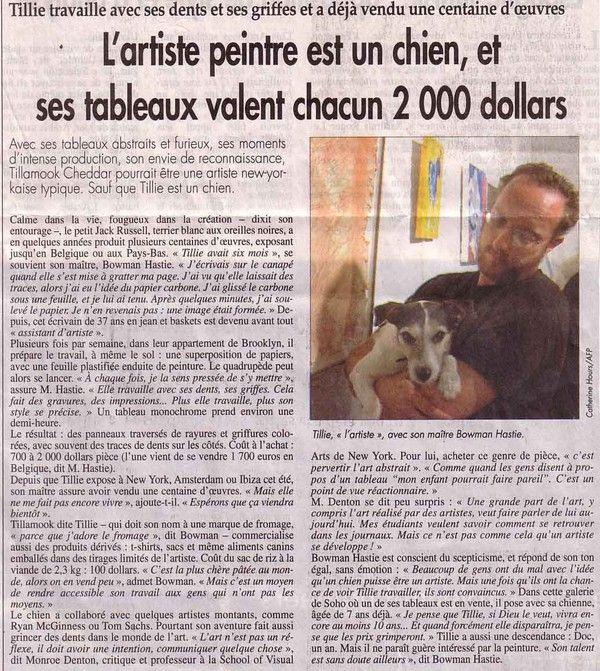 Animaux  - articles divers - Les animaux peintres