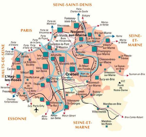 Les départements-(histoire)-Val de Marne - 94 -
