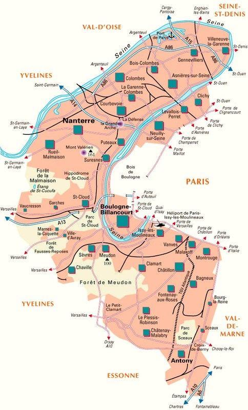Les départements-(histoire)-Hauts-de-Seine - 92 -