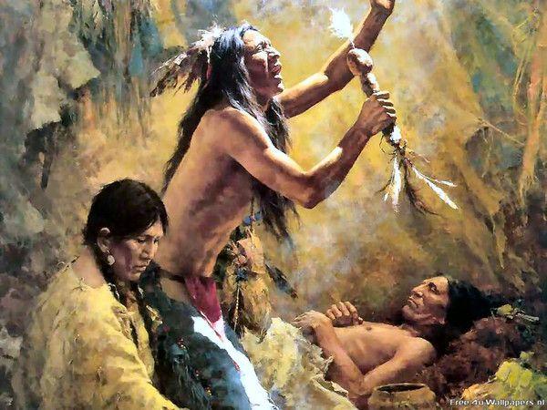 Peuples Indiens-vie spirituelle-Chamanes -