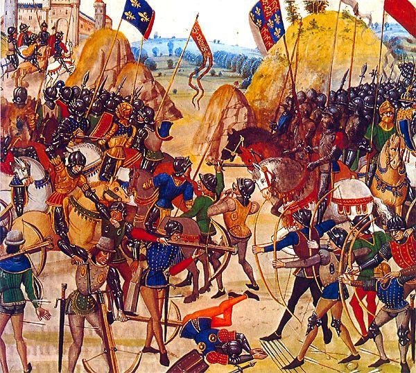 Guerre de cent ans - Batailles - Crecy -