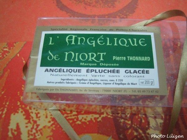 Bonbons et gourmandises - l'angélique confite de Niort -