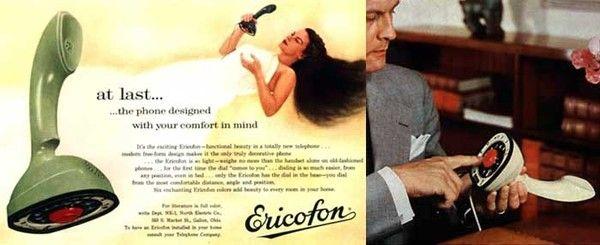 Années 50 - l'Ericofon -