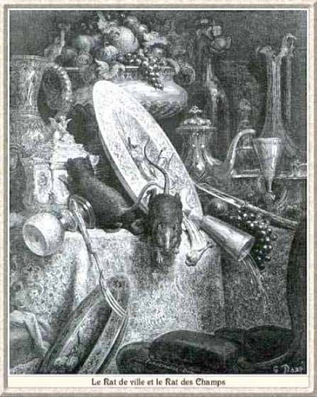 Fables de la Fontaine -Livre I- Le rat de ville et...