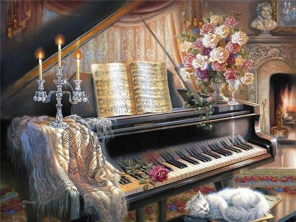Superbe tableau de Judy Gibson... Pris chez Mumu...
