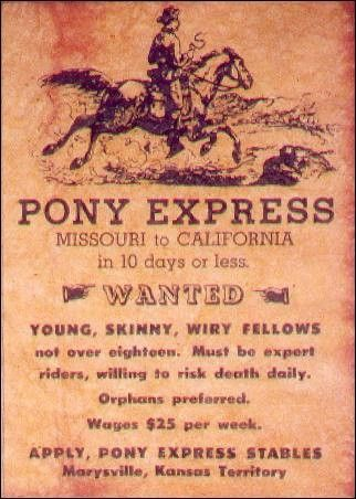 Etats-Unis - Le Pony Express -