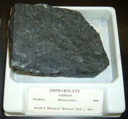 Les roches - L'Amphibolite -