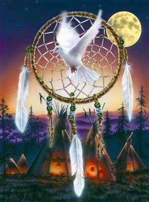 peuples indiens-Vie spirituelle-Capteur de reves et...