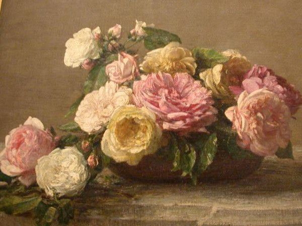 Au jardin - Les roses anciennes -