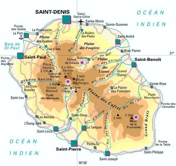 Outremer - Département(histoire) -La Réunion-974-