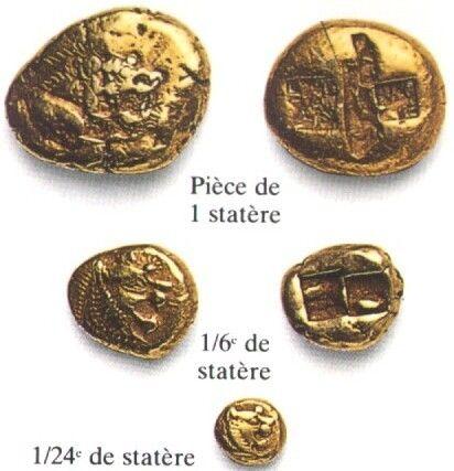 Histoire - Antiquité - Asie Mineure - Invention monnaie -