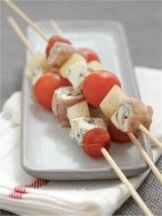 Cuisine - Brochettes - Tomate,jambon,poire ...
