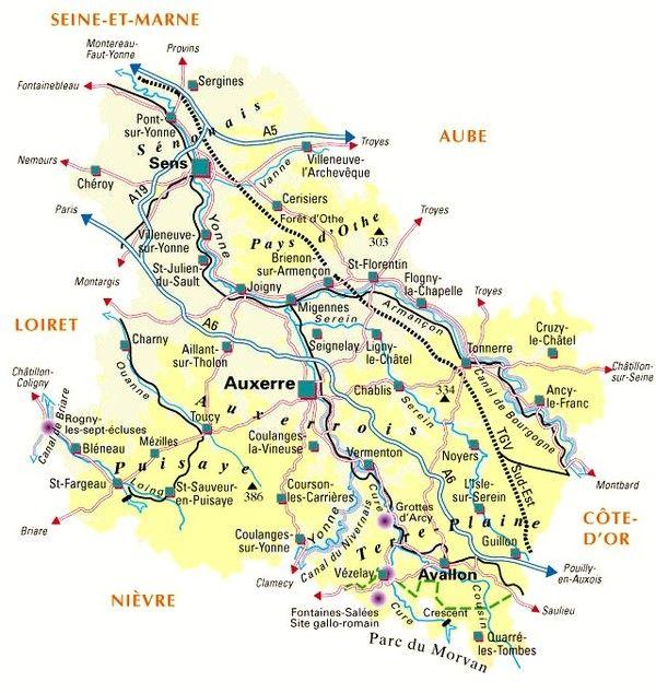 Les départements-(histoire)- Yonne - 89 -