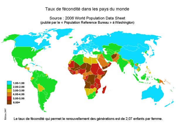 Faits de société - Démographie mondiale et fertilité -