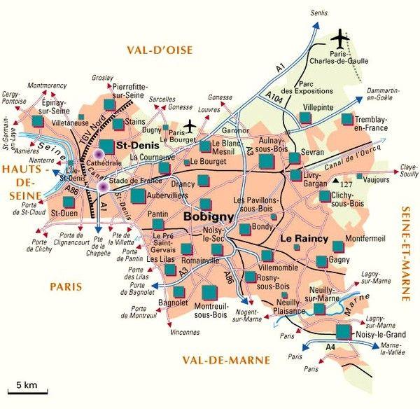 Les départements-(histoire)-Seine-Saint-Denis - 93 -