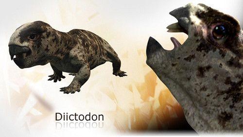 Animaux préhistoriques - Diictodon -