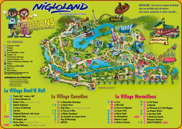 Parcs d'attractions - Nigloland -