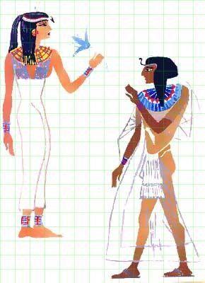 Egypte - Vetements et bijoux -