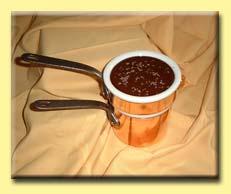 Les sauces - la sauce au chocolat amer -
